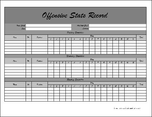 Basketball Player Stat Sheet Template Pictures to Pin – Football Score Sheet Template