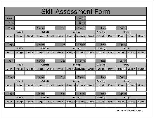 Free Wide Row Skill Assessment