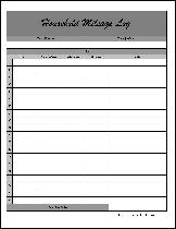 Free Fancy Simple Household Mileage Log